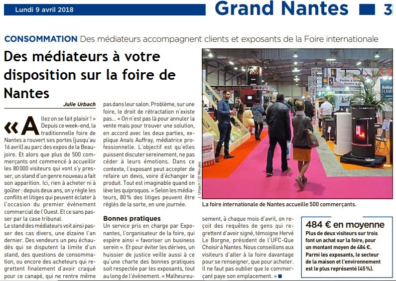 20 minutes Nantes exposants foire internationale